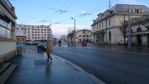 Renens-Gare, la place de la Gare. 28 janvier 2015