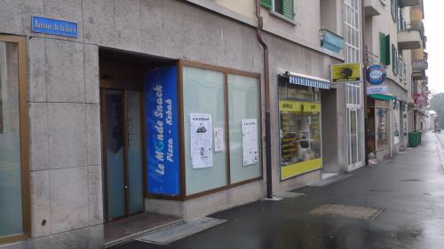 Renens-Gare, le sud, rue de la Gare. 28 janvier 2015