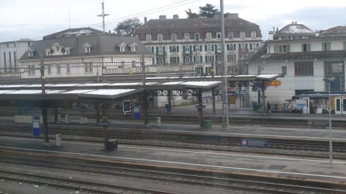 Renens-Gare, le sud vu du nord. 28 janvier 2015