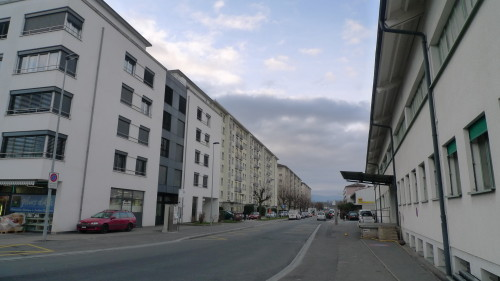 Renens, le sud, avenue d'Epenex. 28 janvier 2015